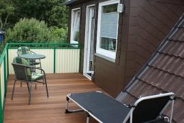Balkon in der Dachgeschosswohnung im Dat Fischerhus
