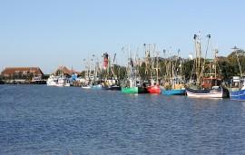 Hafen mit Krabbenkuttern in Buesum